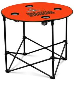 Cleveland Browns NFL Round Folding Picnic Table Football Tai