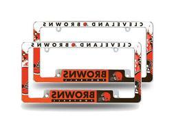 Cleveland Browns NFL  Chrome Metal License Plate Frames w/ B