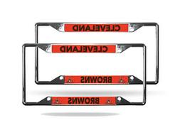 Cleveland Browns NFL  Lightweight Chrome Metal License Plate