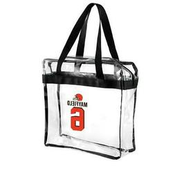 * Cleveland Browns NFL Stadium Approved Clear Zippered Tote
