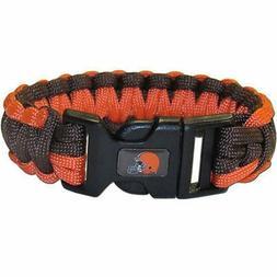 Cleveland Browns NFL Survival Paracord Bracelet Large Authen