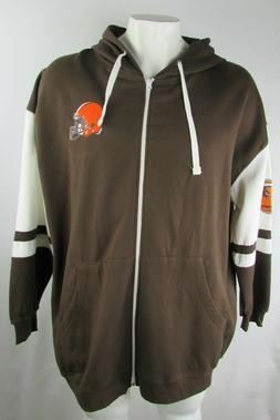 Cleveland Browns NFL Team Apparel Men's Full Zip Hooded Vars