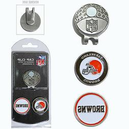 Cleveland Browns NFL Team Golf Cap Clip with 2 Magnetic Enam