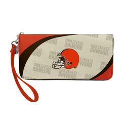 Cleveland Browns NFL Women's Curve Zip Organizer Wallet / Pu