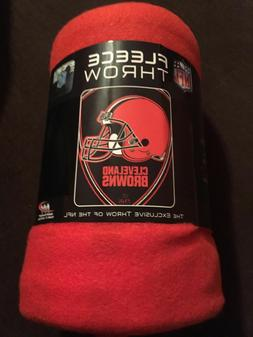 CLEVELAND BROWNS OFFICIAL NFL FLEECE THROW BLANKET BRAND NEW