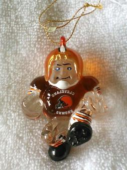 CLEVELAND BROWNS Ornament Crystal Halfback Christmas Holiday
