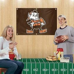 CLEVELAND BROWNS---- PARTY KIT-----2' X 3' FLAG //// FOOTBAL