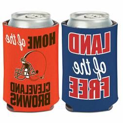 CLEVELAND BROWNS PATRIOTIC NEOPRENE CAN BOTTLE COOZIE COOLER