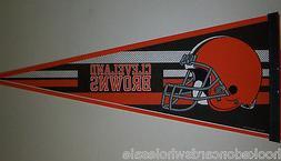 Cleveland Browns NFL Felt Pennant Brand New Full Size 12 X 3