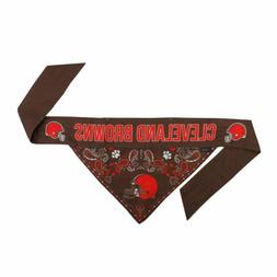 Cleveland Browns Pet Reversible Paisley Bandana