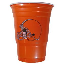 CLEVELAND BROWNS PLASTIC GAMEDAY CUPS 18OZ 18CT SOLO TAILGAT