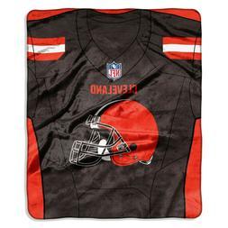 Cleveland Browns Plush Throw Blanket Raschel Jersey Design N