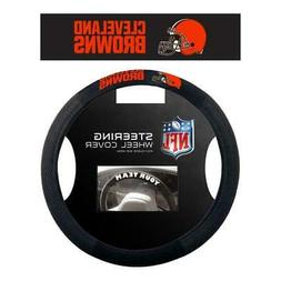 Cleveland Browns Poly Suede Steering Wheel Cover  NFL Car Tr