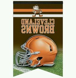 """CLEVELAND BROWNS PREMIUM QUALITY WALL BANNER 17""""X26"""" ELF"""