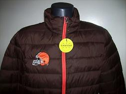 CLEVELAND BROWNS Puffer Pack It Jacket with Tote Bag S M LG