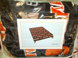 cleveland browns queen size faux fur luxury