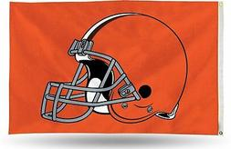 Cleveland Browns RICO Helmet Logo 3x5 Flag w/grommets Outdoo