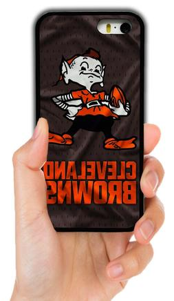 cleveland browns rubber phone case cover