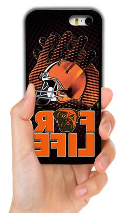CLEVELAND BROWNS RUBBER PHONE CASE COVER FOR IPHONE XS MAX X