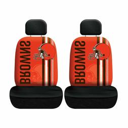 Cleveland Browns Set of 2 Rally Print Seat Covers