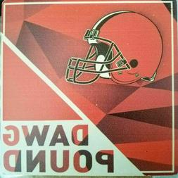 Cleveland Browns set of 6 Coasters / Dawg Pound /NFL