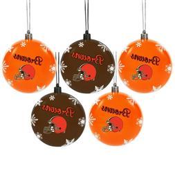 Cleveland Browns Shatterproof BALLS Christmas Tree Holiday O