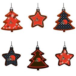 Cleveland Browns Shatterproof TREES & STARS Christmas Tree O