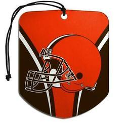 Cleveland Browns Shield Design Air Freshener 2 Pack  NFL Fre