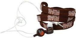 cleveland browns shoelace earbuds new headphone brown