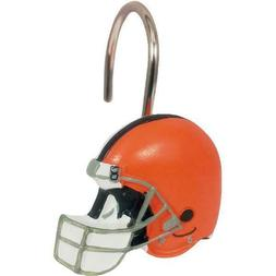 NFL Cleveland Browns Shower Curtain Ring Set, 12 Piece