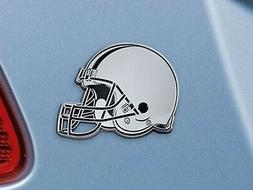 Cleveland Browns Solid Metal Chrome Auto Emblem Raised Decal