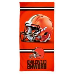 "CLEVELAND BROWNS SPECTRA BEACH TOWEL 30""X60"" COTTON PLUSH"