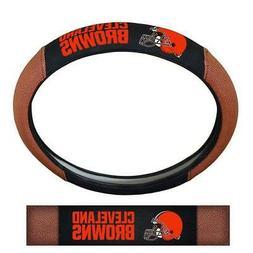 Cleveland Browns Steering Wheel Cover Pigskin Design  NFL Ca