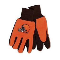 CLEVELAND BROWNS TAILGATE GAME DAY PARTY UTILITY WORK GLOVES