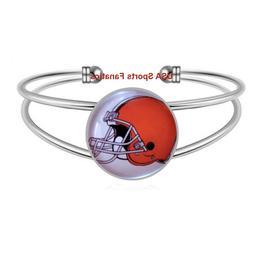 Cleveland Browns Team Logo Adjustable Bangle Bracelet