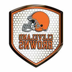 Cleveland Browns Team Shield Reflector Emblem Decal Sticker