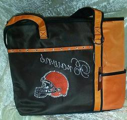 Cleveland Browns Tote Rhinestone Bling NFL Purse Bag ~NEW~