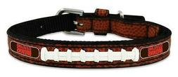 Cleveland Browns Toy Leather Lace Dog Collar  NFL Pet Cat Le