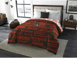 Cleveland Browns Twin Full Size Bedroom Bedding Comforter NF