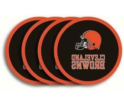 Cleveland Browns Vinyl Coaster Set - 4 Pack  NFL Drink Bar M