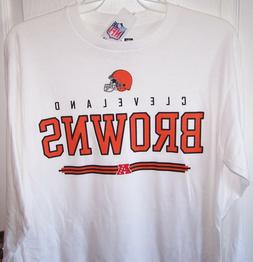 Cleveland Browns White Long Sleeve T Shirt Mens Medium New w