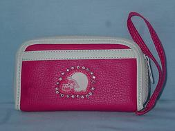 CLEVELAND BROWNS  Womens/Girls  PINK FASHION WALLET with Rhi