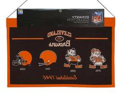 Cleveland NFL Browns LARGE 22x14 Wall Hanging Logo Banner fe