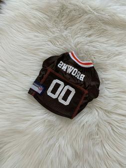 Cute Pet Dog Cat Clothes T Shirt Shirts Apparel Coat NFL Cle