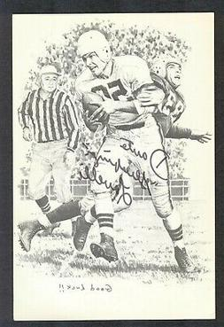 DANTE LAVELLI {d-2009} BROWNS Signed Pro-Football Hall of Fa