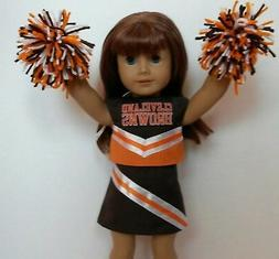 """Doll Clothes fits 18"""" American Girl Doll Cleveland Browns Ch"""