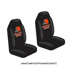 NFL Cleveland Browns Car Truck 2 Front Seat Covers Set - Off