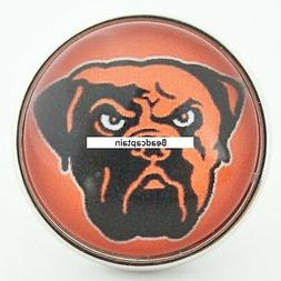 Fits Ginger Snaps CLEVELAND BROWNS Snap Sports Jewelry 18mm