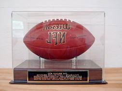 Football Display Case With A Jim Brown Cleveland Browns Engr