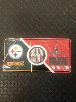 HOUSE DIVIDED PITTSBURGH STEELERS CLEVELAND BROWNS PLATE COV
